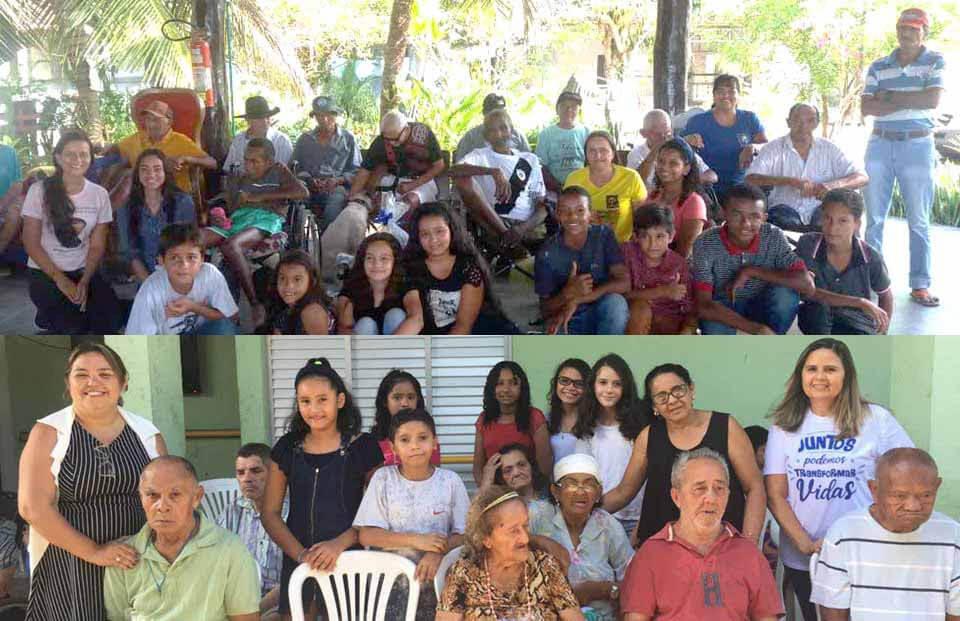 foto de idosos e crianças reunidas