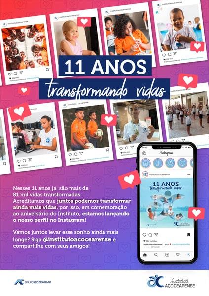 Instituto Aço Cearense completa 11 anos com mais de 81 mil pessoas beneficiadas ao longo de sua história