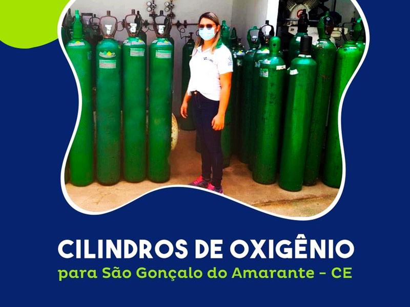 Grupo Aço Cearense faz doação de testes de Covid-19 e cilindros de oxigênio para hospitais do município de São Gonçalo do Amarante