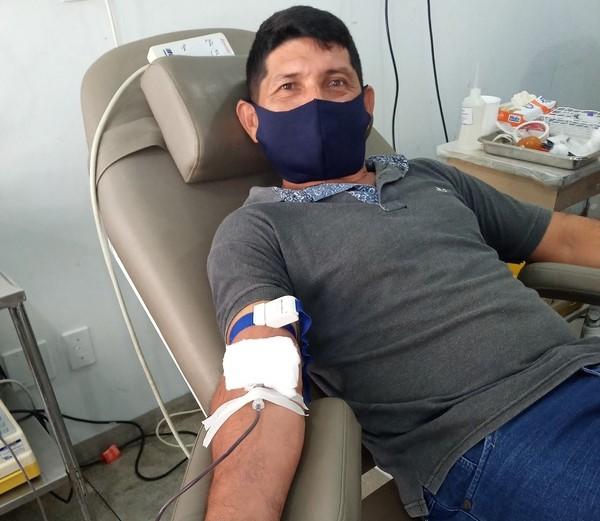 Colaboradores da SINOBRAS Florestal participam de campanha de doação de sangue