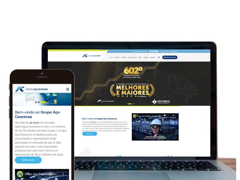 Grupo Aço Cearense lança novo site com maior facilidade de navegação para os usuários
